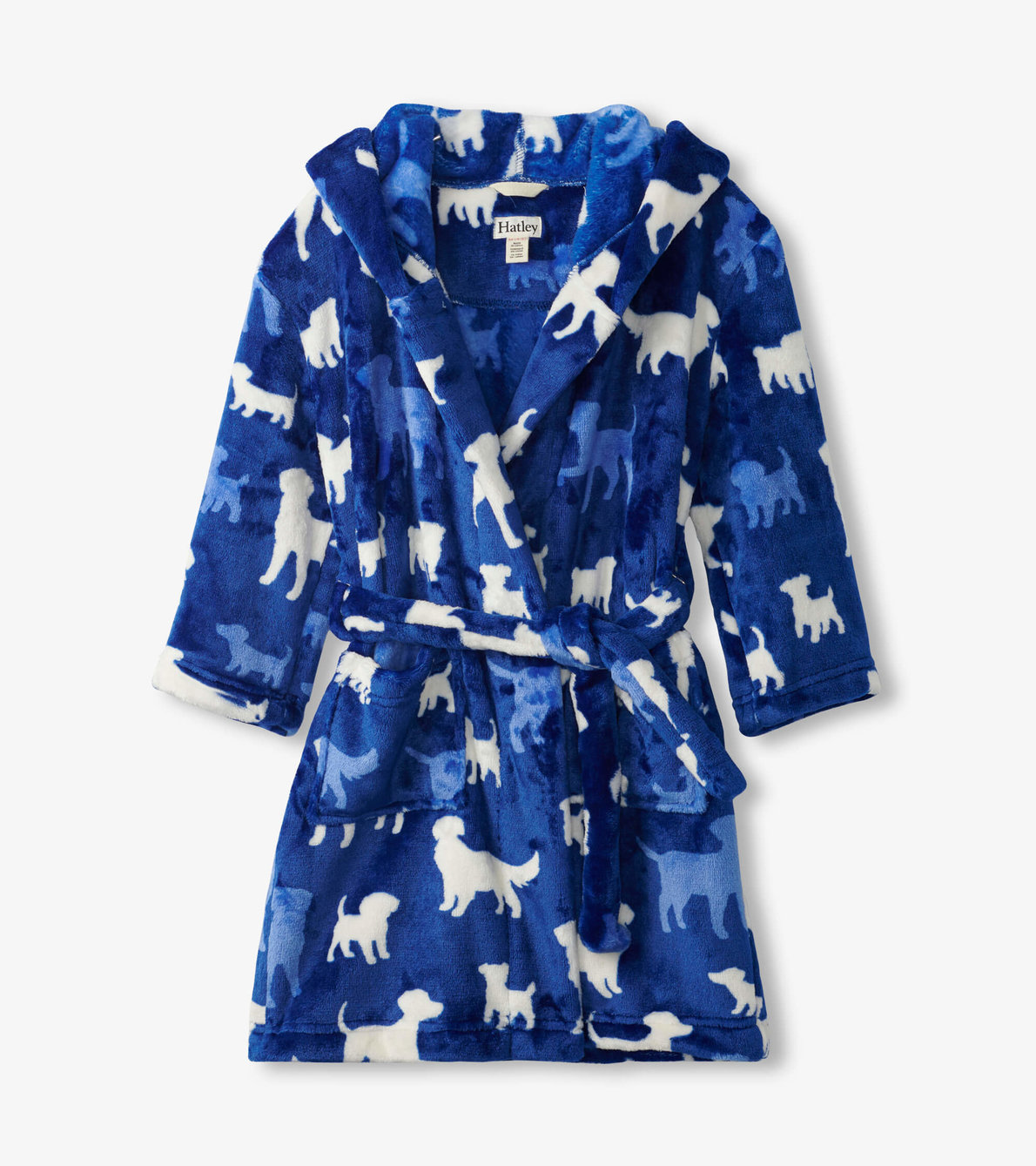 View larger image of Silhouette Pups Fleece Robe