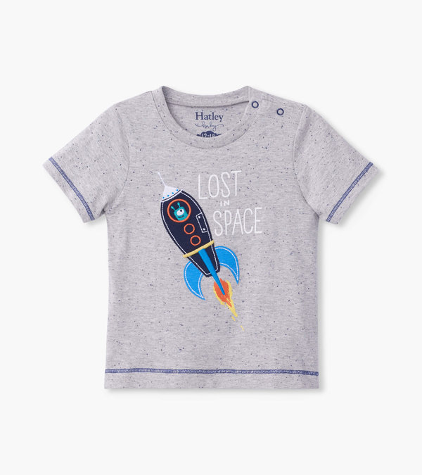 Space Rocket Glow In The Dark Baby Graphic Tee