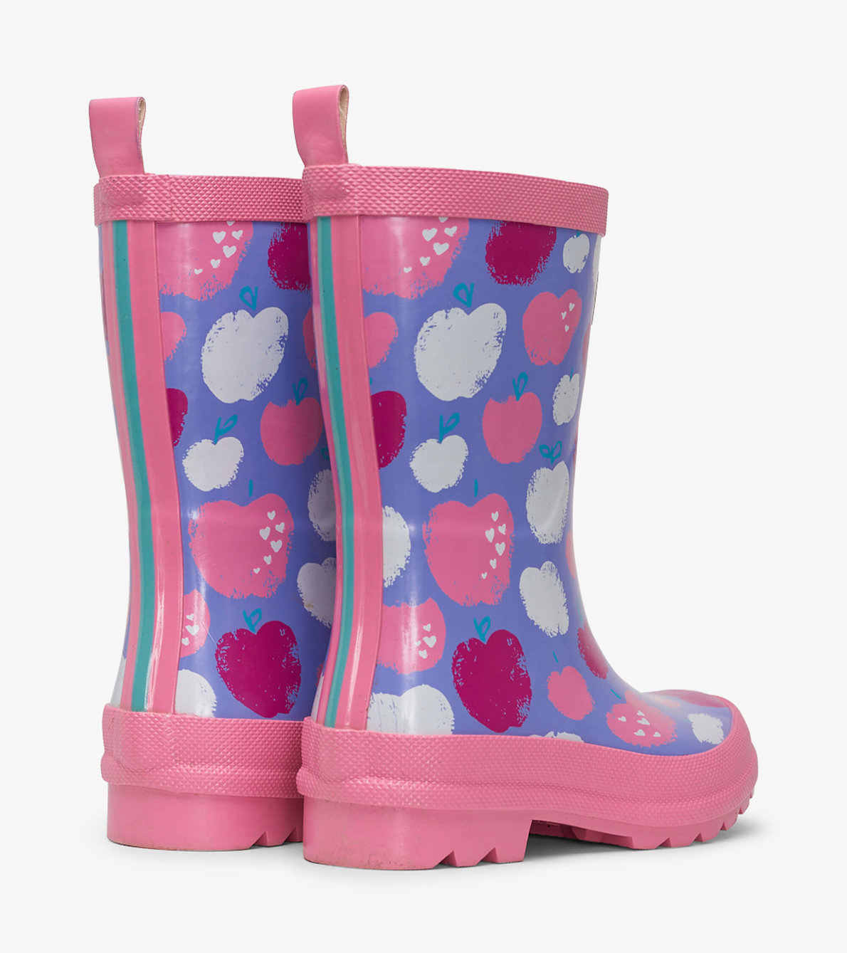 View larger image of Stamped Apples Shiny Rain Boots