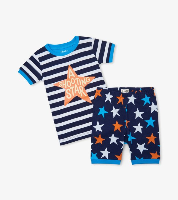 Stars And Stripes Cotton Short Pajama Set