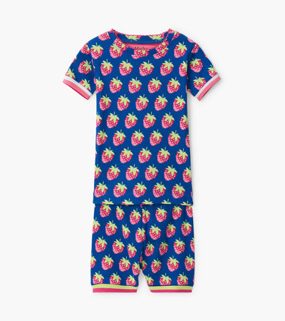 Strawberries Organic Cotton Short Pajama Set