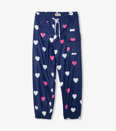 Striped Hearts Colour Changing Splash Pants