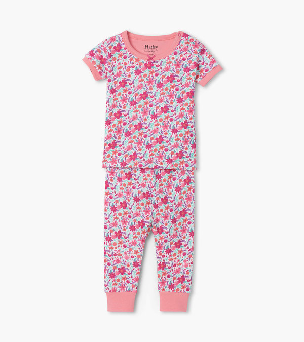 Summer Garden Organic Cotton Baby Short Sleeve Pajama Set