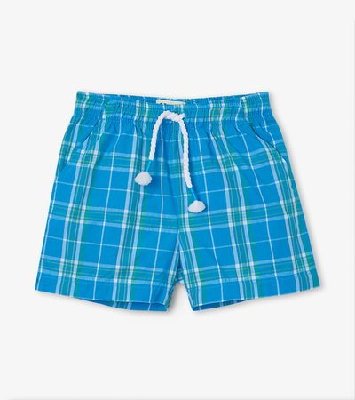 Summer Plaid Baby Woven Shorts