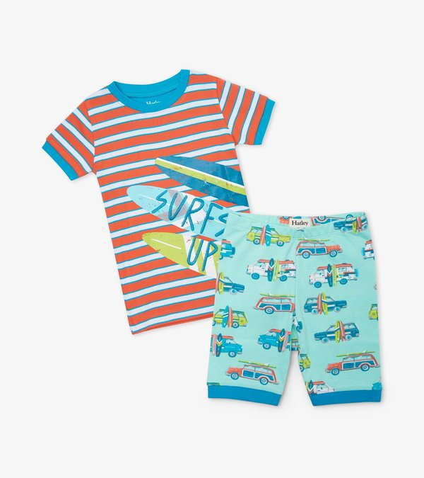 Surfs Up Organic Cotton Short Pajama Set