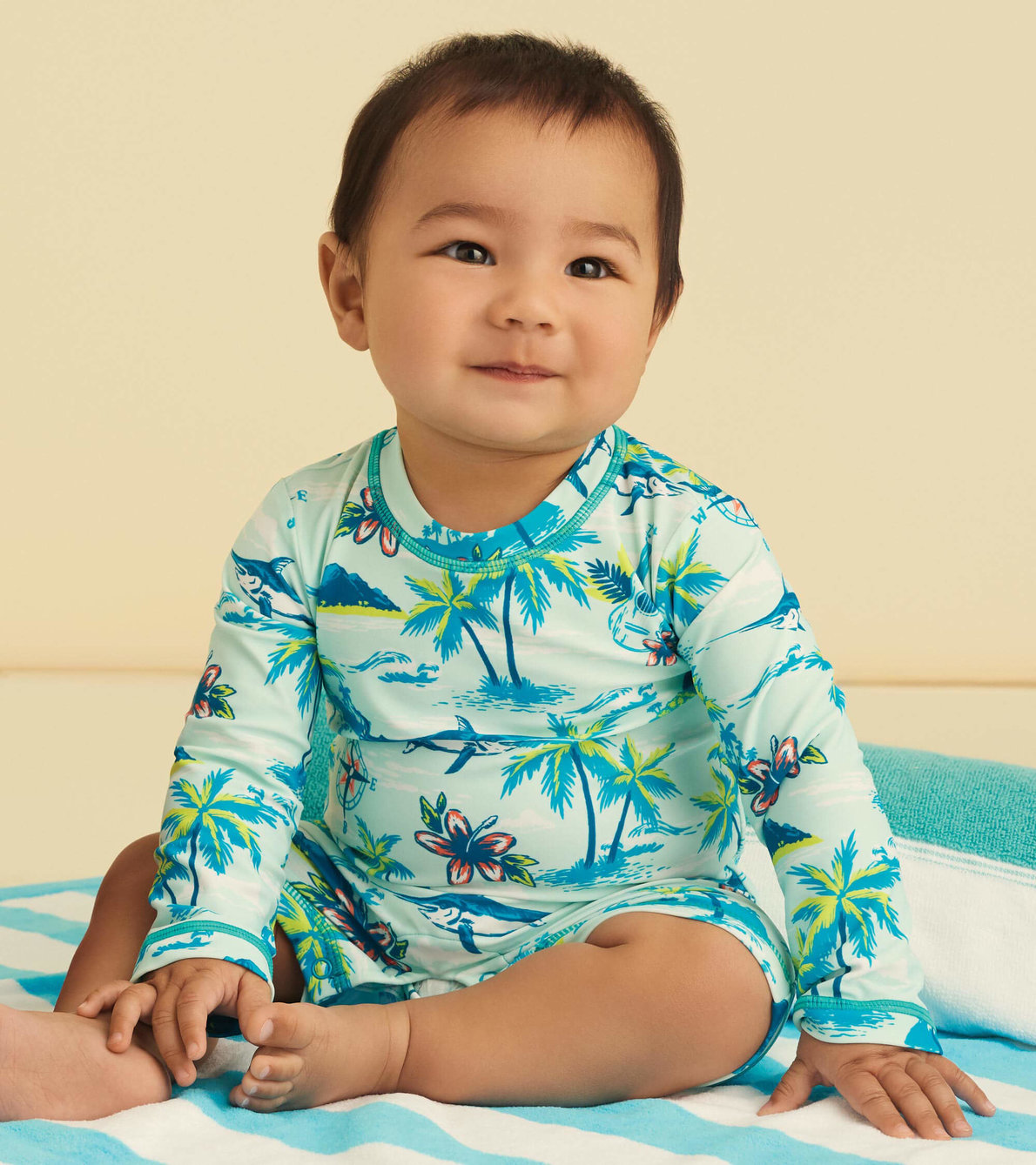 View larger image of Tropical Islands Baby One-Piece Rashguard