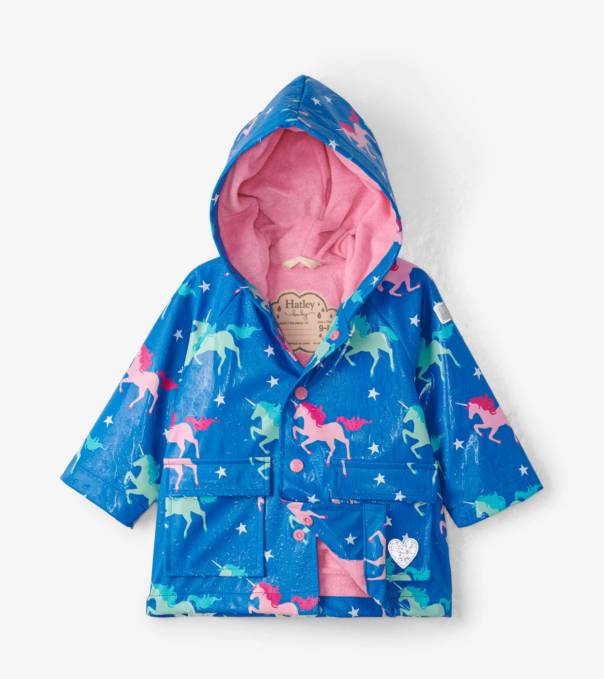 View larger image of Twinkle Unicorns Colour Changing Baby Raincoat