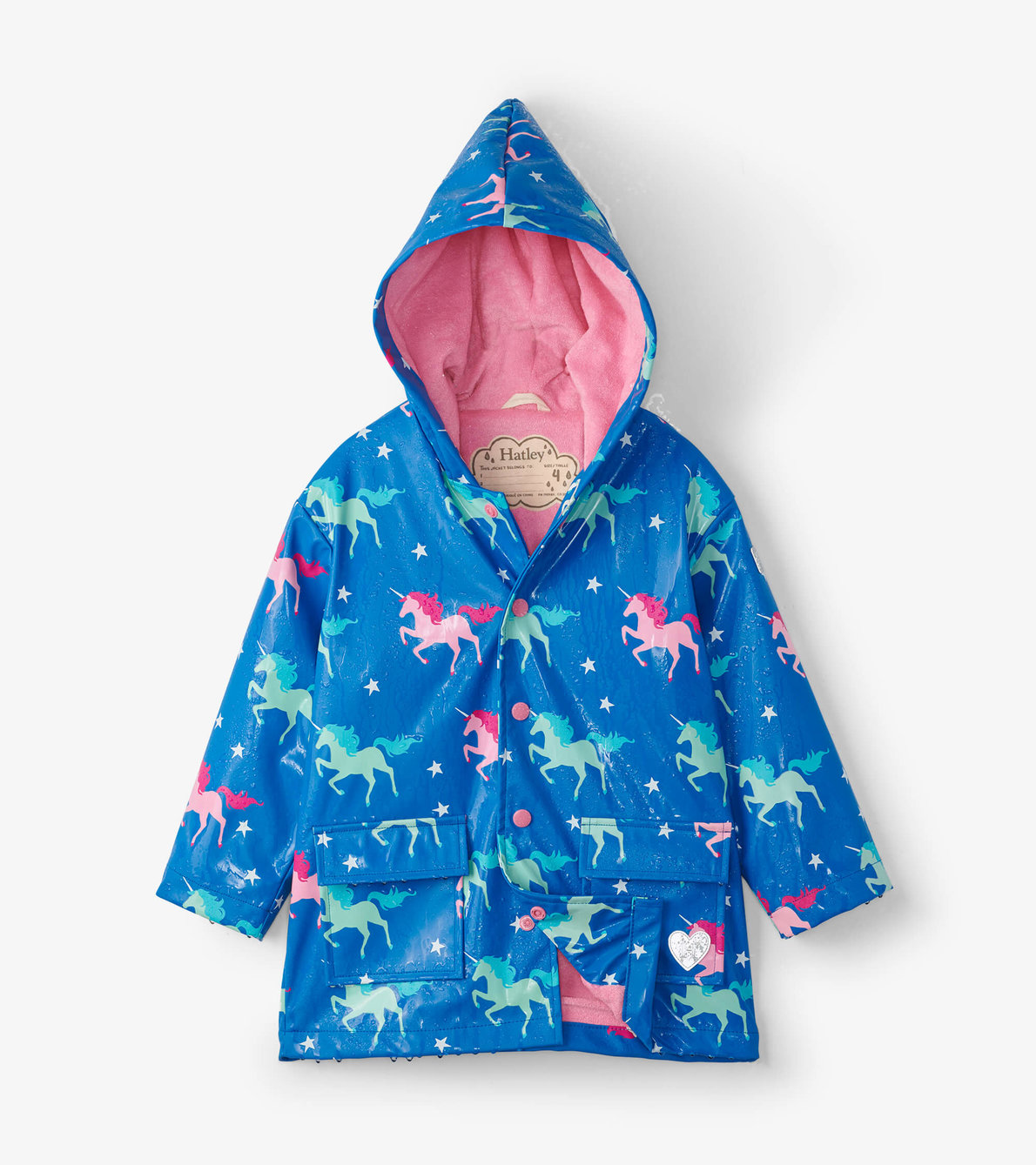 View larger image of Twinkle Unicorns Colour Changing Raincoat