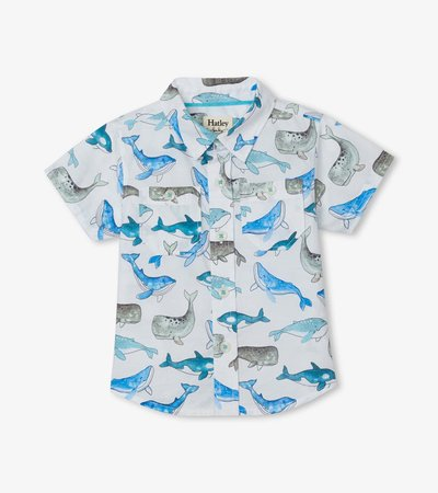 Whales Baby Button Down Shirt