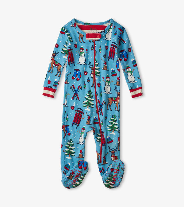 Winter Wonderland Organic Cotton Footed Coverall