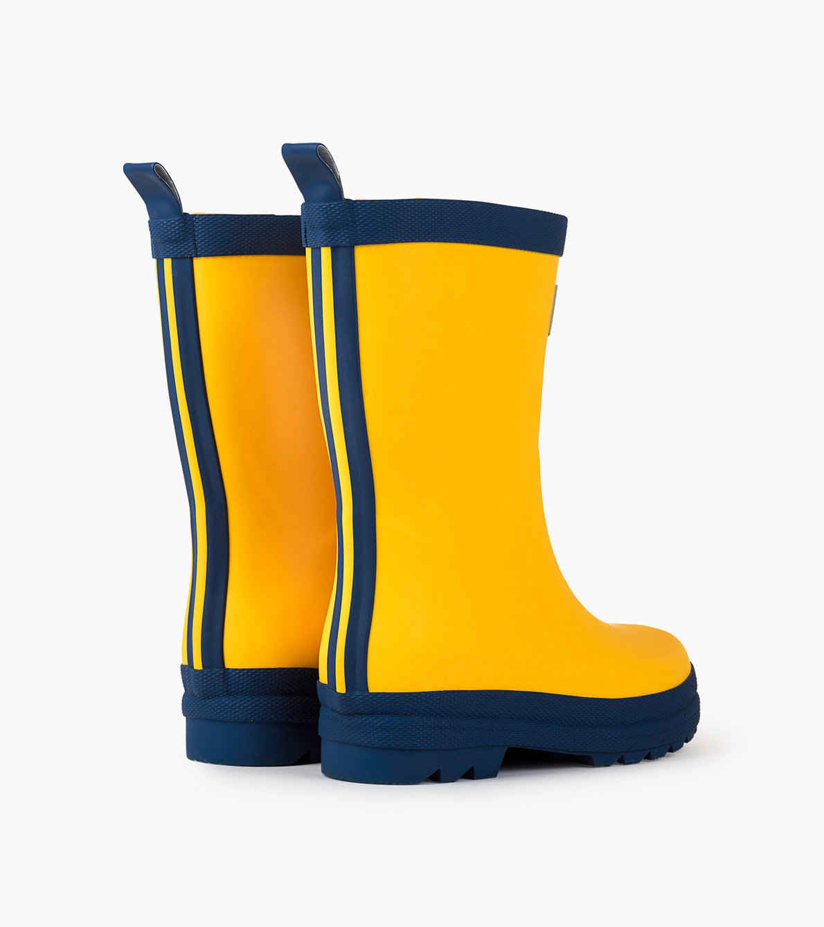 View larger image of Yellow & Navy Matte Rain Boots