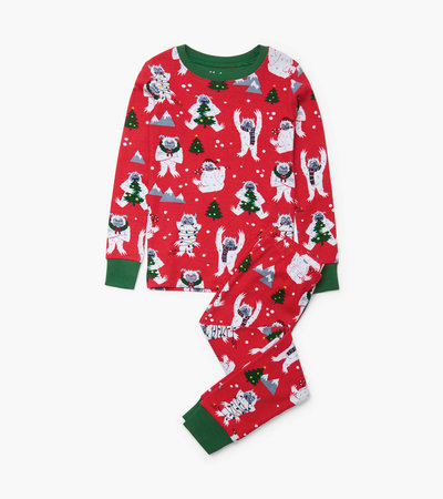 Yuletide Yetis Organic Cotton Pajama Set